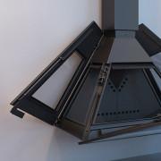 Открытие боковых дверей для загрузки и открытие фронтальных дверей для очистки