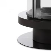 Черная стеклянная отделка снизу